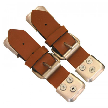BROWN LEATHER FASTENING STRAPS