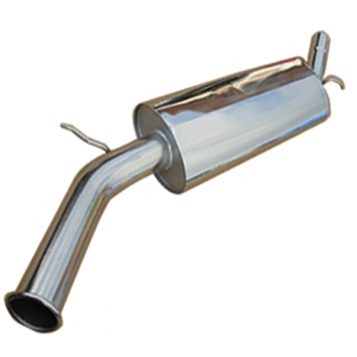 """STAINLESS STEEL 2"""" SIDE EXIT , 3"""" TAIL PIPE"""